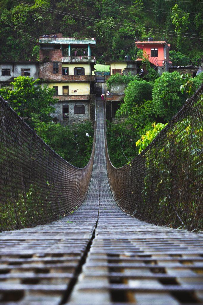 A wooden bridge that inspires confidence